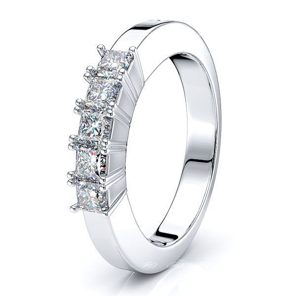 Lola Princess Cut Women Anniversary Wedding Ring