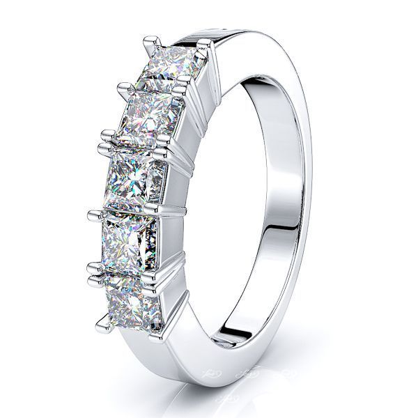 Rebecca Princess Cut Women Anniversary Wedding Ring