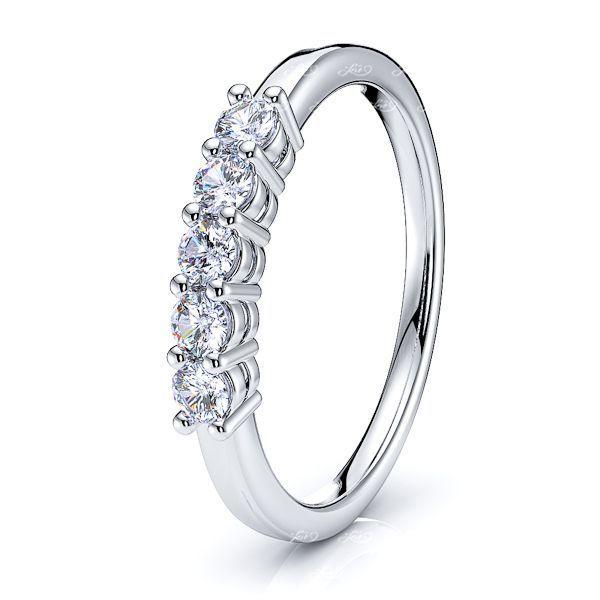 Shared Prong Women Anniversary Wedding Ring