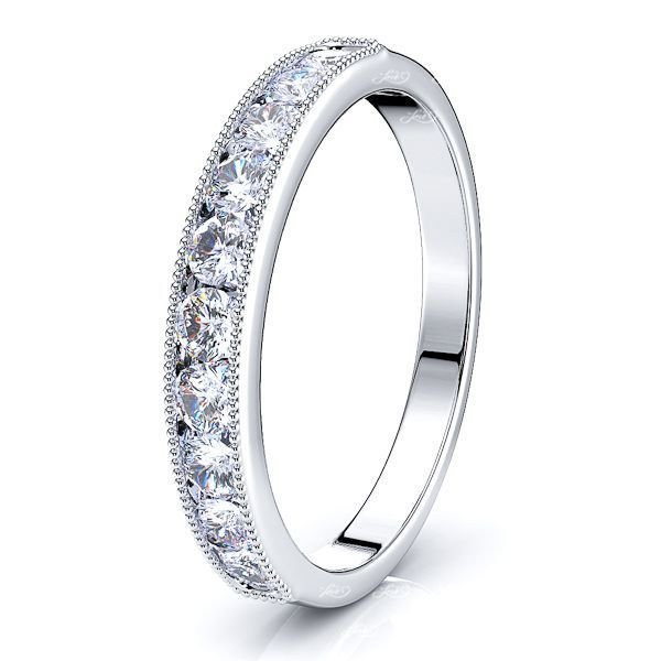 Alessia Milgrain Women Anniversary Wedding Band
