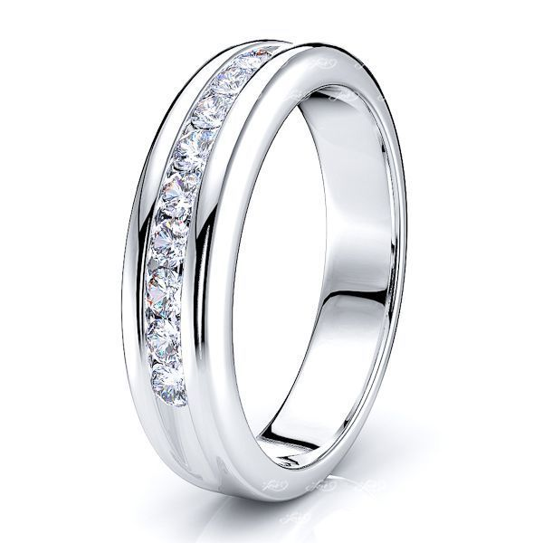 Orlanda Channel Set Women Anniversary Wedding Ring