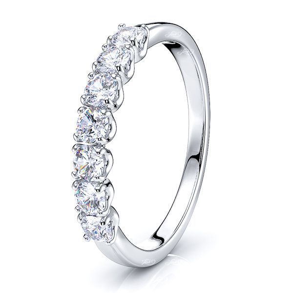 Evonne 7 Stone Women Anniversary Wedding Ring