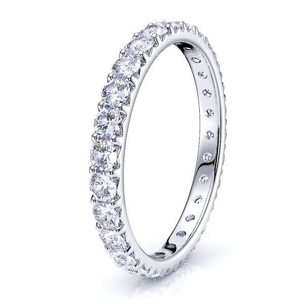 French Pave Diamond Women Eternity Band