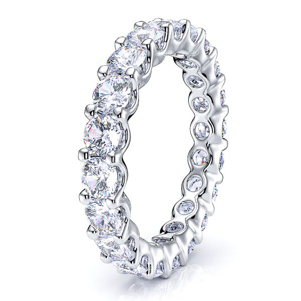 U-Prong Diamond Women Eternity Band
