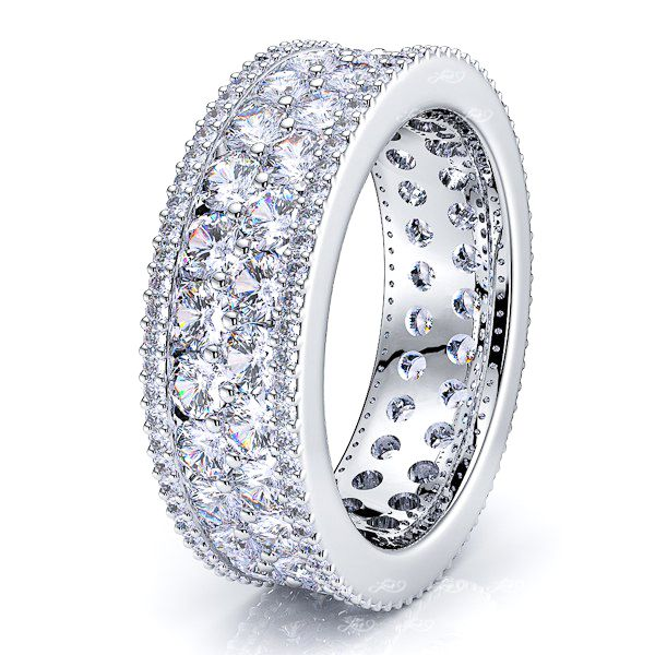 Luna Diamond Women Eternity Wedding Ring