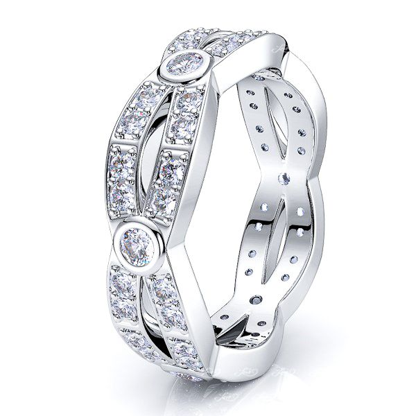 Hestia Diamond Women Eternity Wedding Band