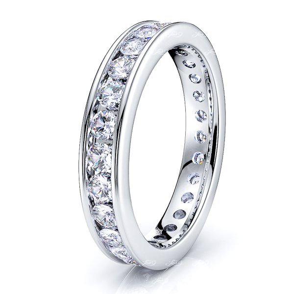 Brunhild Channel Set Wedding Women Eternity Band