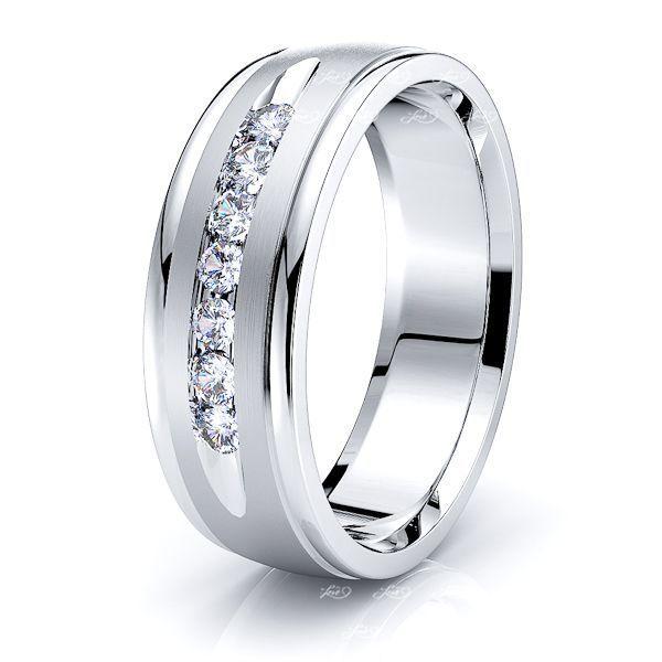 Claire Seven Stone Mens Diamond Wedding Band