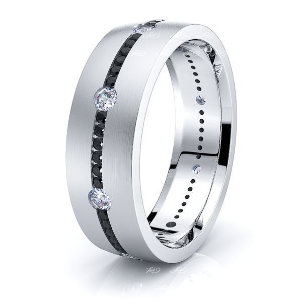 Lila Black Mens Diamond Wedding Ring