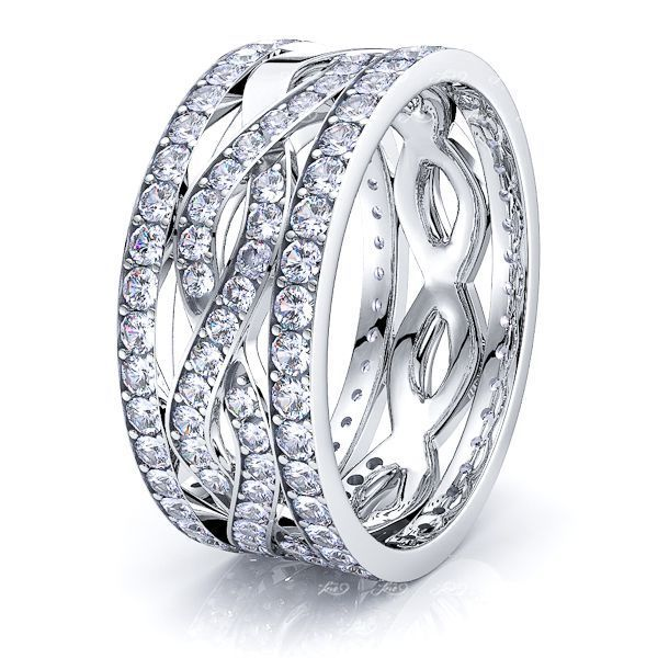 Willa Mens Diamond Wedding Band