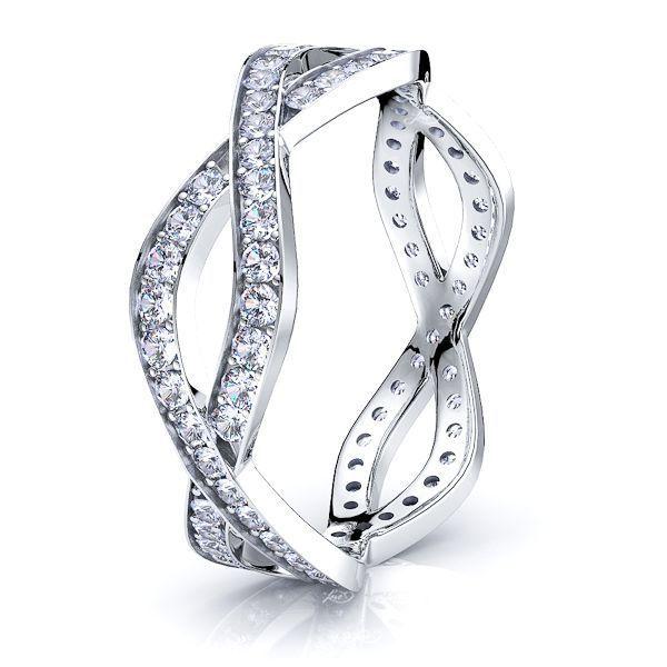 Evangeline Infinity Mens Diamond Wedding Band