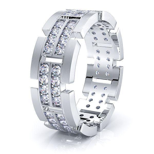 Olivia Mens Diamond Wedding Ring