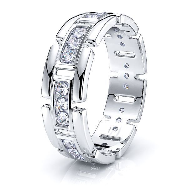 Caroline Mens Diamond Wedding Band
