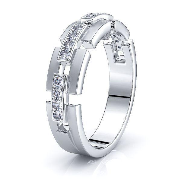 Elodie Mens Diamond Wedding Band