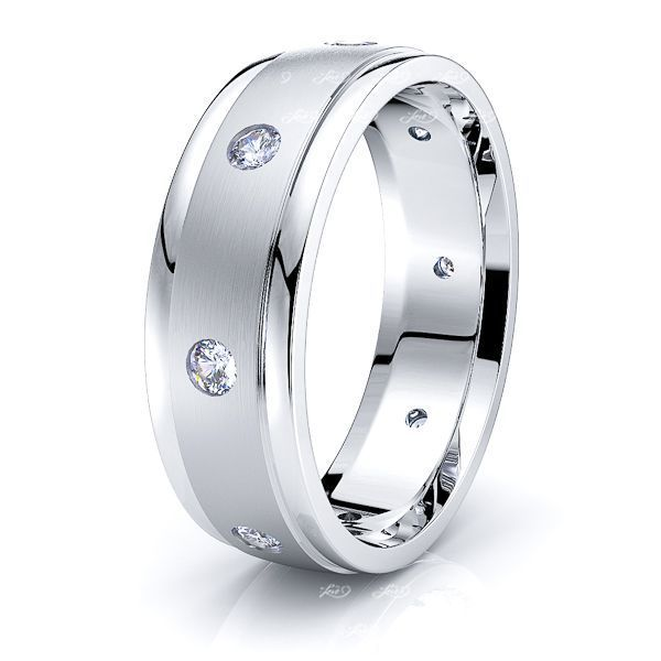 Katniss Mens Diamond Wedding Ring