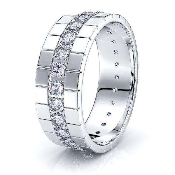 Everly Mens Diamond Wedding Band