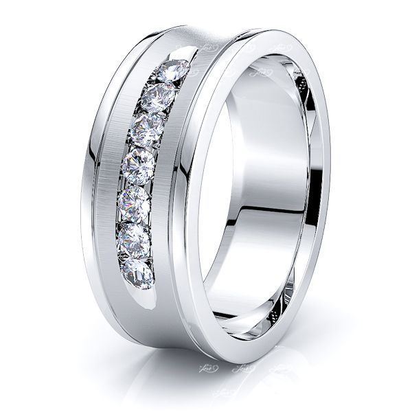 Poppy Mens Diamond Wedding Ring