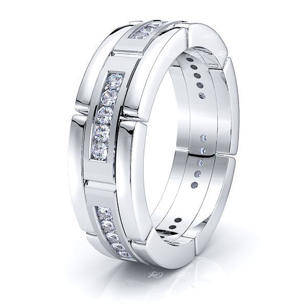 Elsa Mens Diamond Wedding Ring