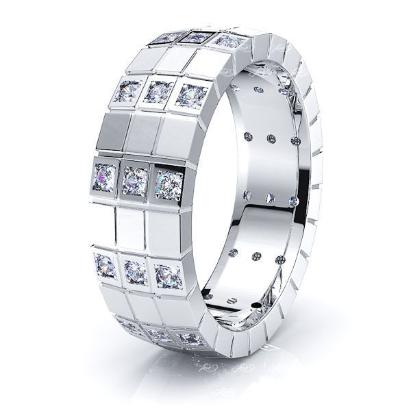 Anna Mens Diamond Wedding Ring