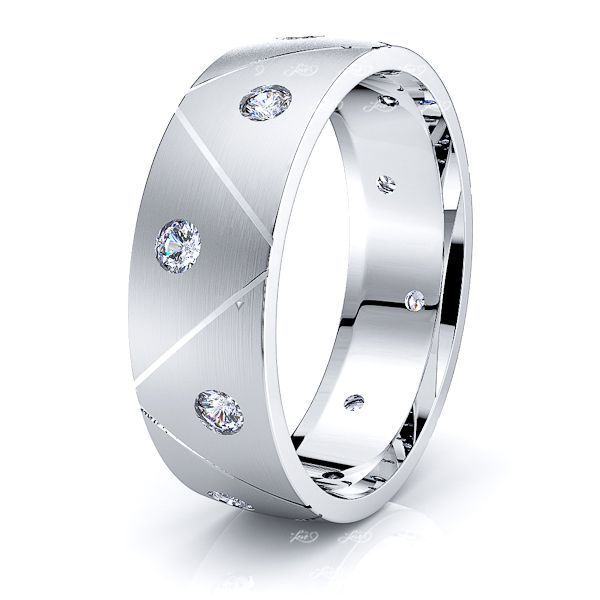 Margaret Mens Diamond Wedding Ring