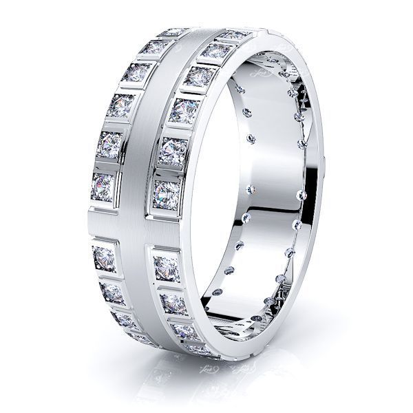 Meilani Mens Diamond Wedding Band