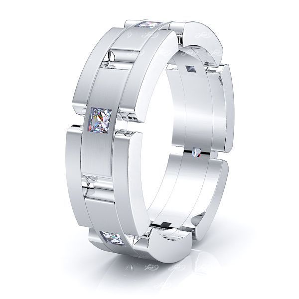 Cecilia Mens Diamond Wedding Ring
