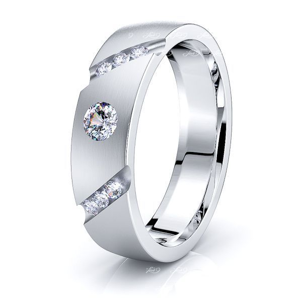 Flora Mens Diamond Wedding Ring