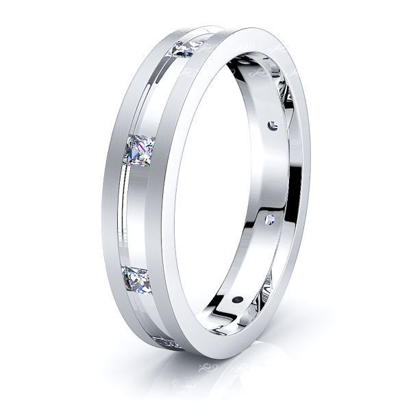 Anais Mens Diamond Wedding Band