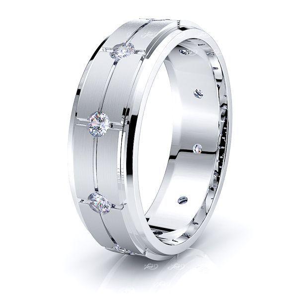 May Mens Diamond Wedding Ring