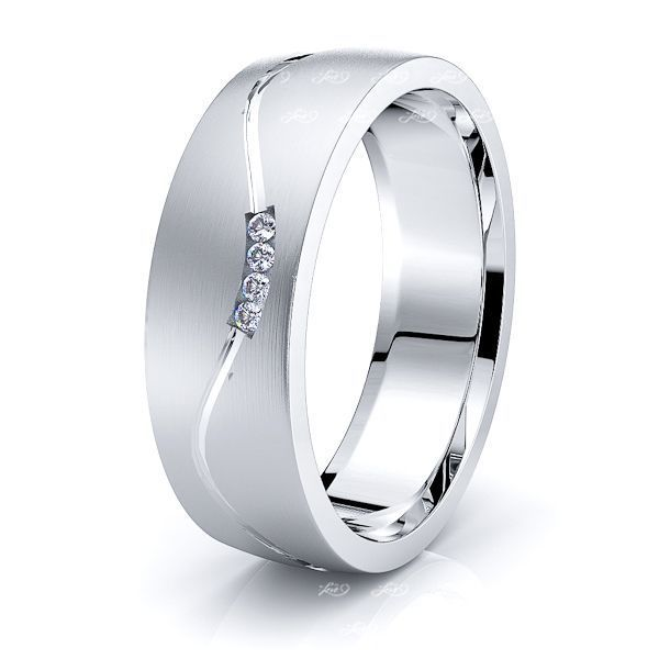 Jade Mens Diamond Wedding Band
