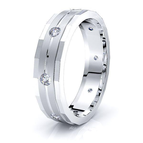 Camille Mens Diamond Wedding Ring