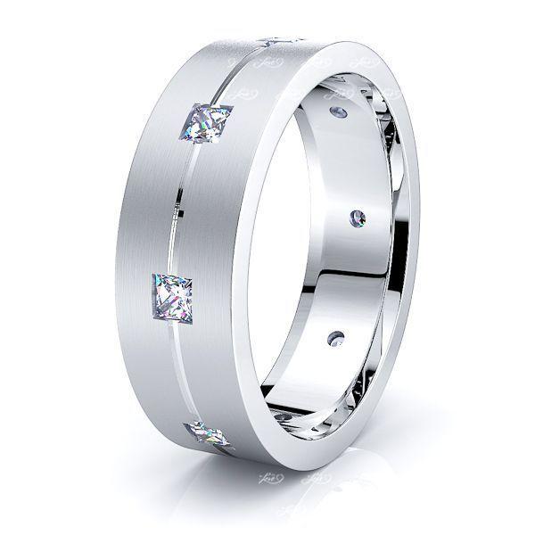 Zora Mens Diamond Wedding Band