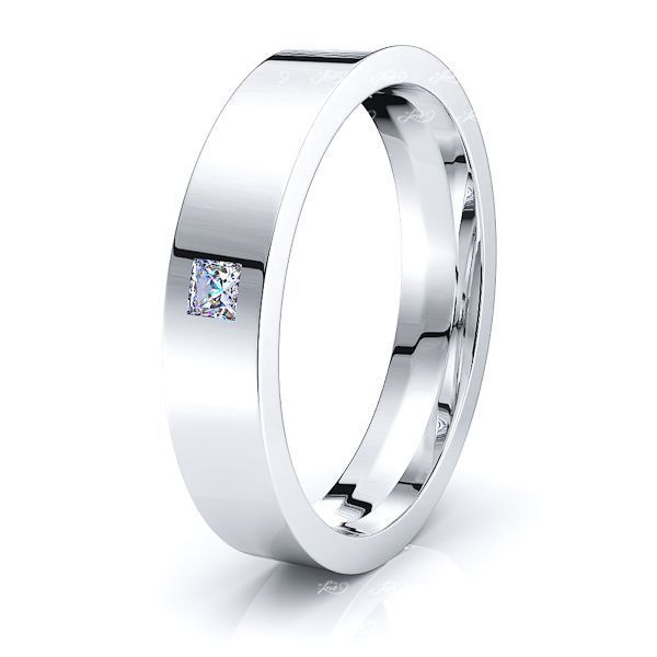 Fleur Mens Diamond Wedding Band