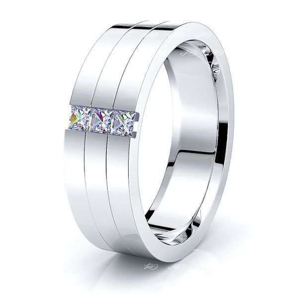 Francesca Mens Diamond Wedding Ring