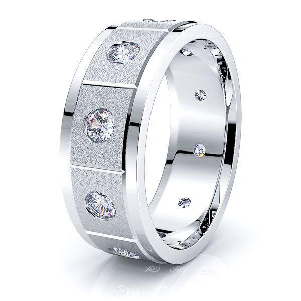June Mens Diamond Wedding Ring