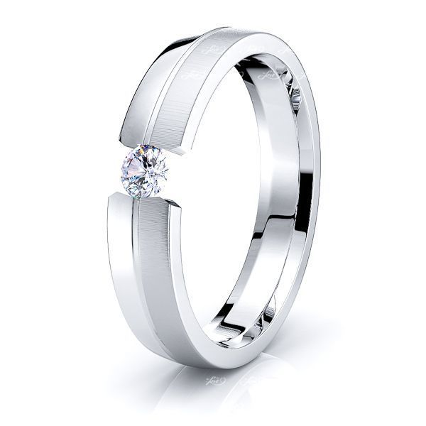 Snow Mens Diamond Wedding Ring