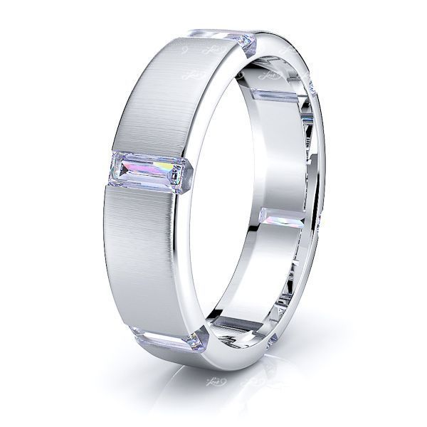 Bella Mens Diamond Wedding Band