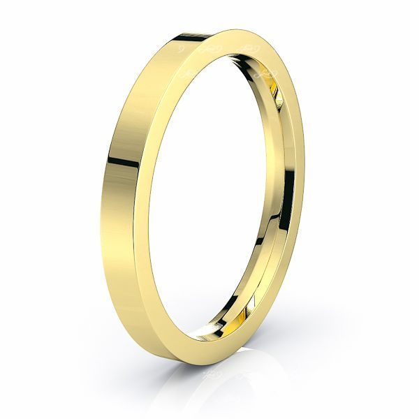 Solid Flat Comfort Fit Mens Wedding Ring