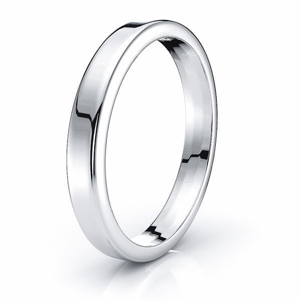 Solid Euro Dome Comfort Fit Mens Wedding Band