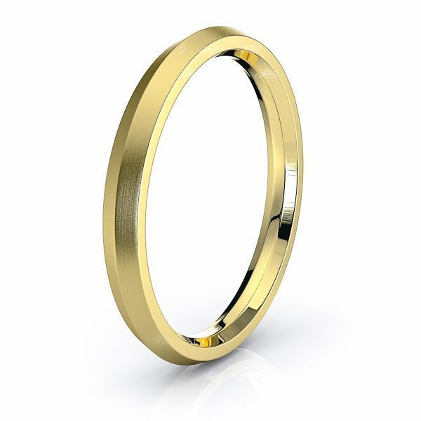 Solid Knife Edge Comfort Fit Mens Wedding Ring